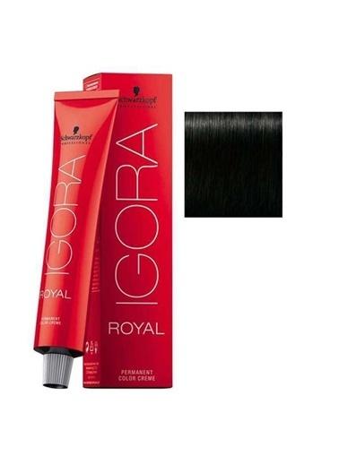 Schwarzkopf Igora Royal No:1-0 Siyah Saç Boyası Siyah